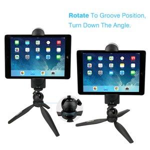 Image 2 - Ulanzi 5 12 Máy Tính Bảng Gắn Chân Đế Tripod, bàn Miếng Lót Adapter Kẹp Giá Đỡ 3 Chân Cho iPad Air Pro Mini 2 3 4 Xiaomi M Ipad 2 PC