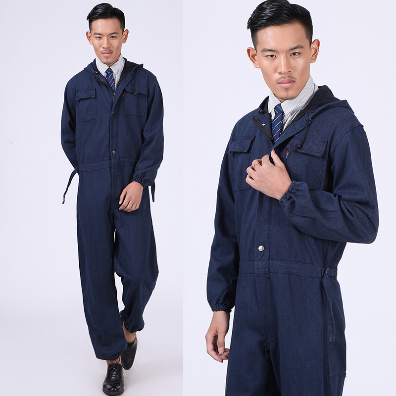 New Men Overalls Denim Work Clothing Long Sleeve Hooded Coveralls Labor  Overalls For Machine Welding Auto Repair Painting M-4XL - aliexpress.com -  imall.com d422e47a702b