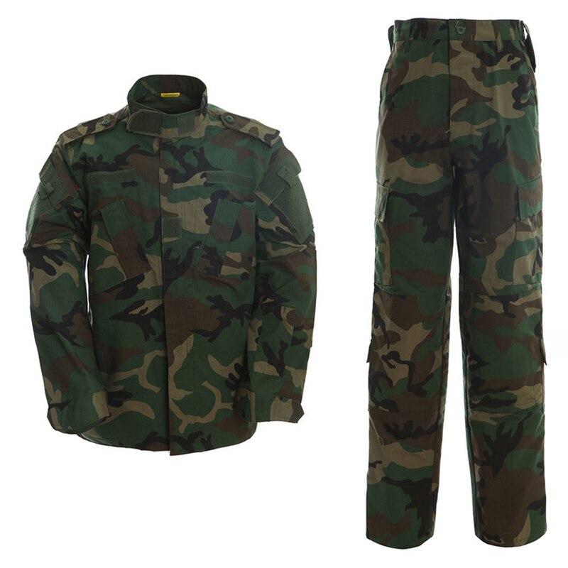 Uniforme tactique Camouflage costume militaire Paintball armée Fatigues costumes pantalon de Combat + chemise tactique vêtements de chasse pour hommes