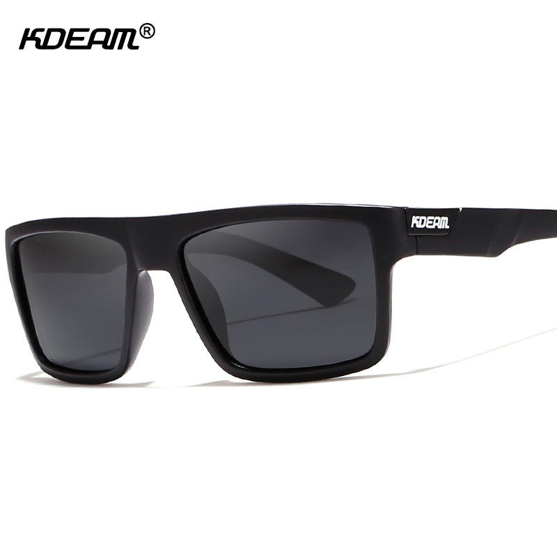 KDEAM Rectangle Men Sunglasses Polarized With Elastic-paint Temples Unmatched in Quality Sun Glasses Male With Design Box KD05X