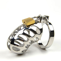 SODANDY Chastity Belt Male Stainless Steel Chastity Device Cock Cage Top Quality Openwork Penis Lock Metal Penis Ring Sex Toys