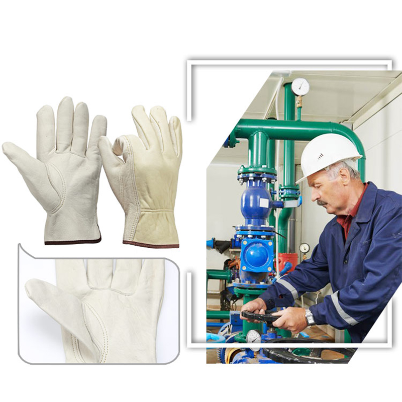 Image 4 - OZERO New Men's Work Gloves Goat Leather Security Protection Safety Cutting Working Repairman Garage Racing Gloves For Men  0013-in Safety Gloves from Security & Protection