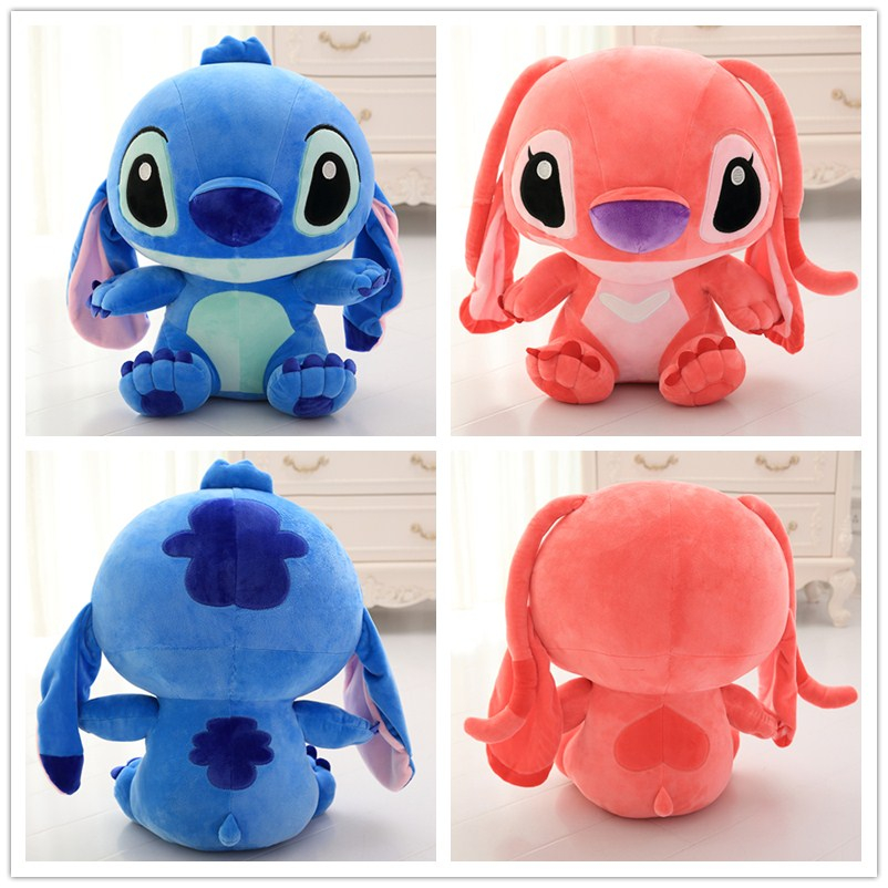 50cm Lop Ear Cute Cartoon Froze Lilo and Stitch Plush Toy Doll Stuffed Toys Dolls Hnaging Ear Stitch Baby Toy Gift For Children wvw cartoon stitch soft stuffed animals toy baby doll toys for girls children birthday gift mini stuffed animals cute plush toy