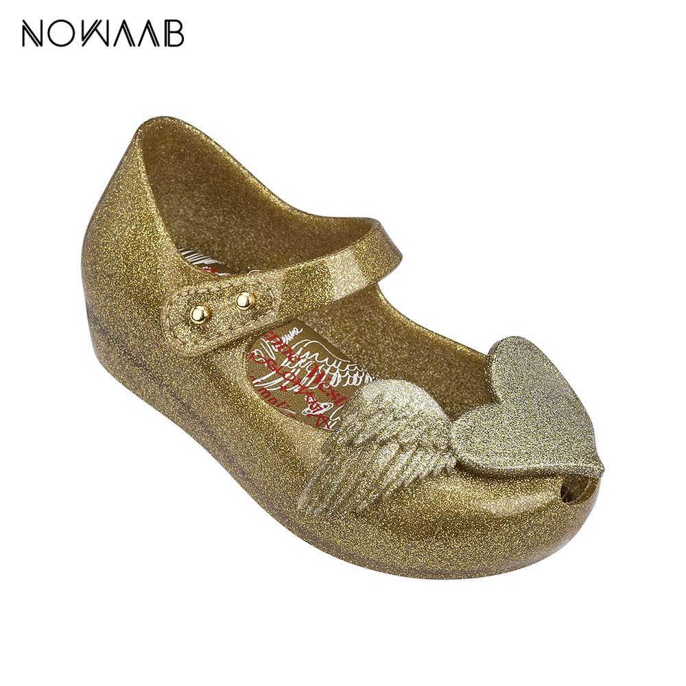 מיני מליסה מקורי אהבת כנפי 2019 חדש קיץ ילדה ג 'לי נעלי בנות החלקה סנדלי מליסה החוף פעוט