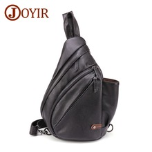 JOYIR New Design Genuine Leather Men Crossbody Bags Business Chest Cowhide Shoulder Bag Casual Mens