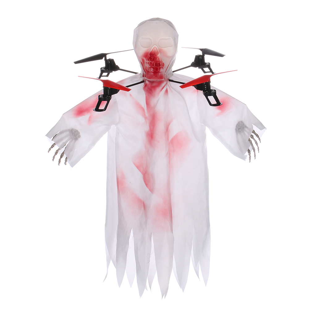 Halloween RC font b Drone b font Horrible Creepy Toothy Ghost Head Skull Quadcopter 2 4G