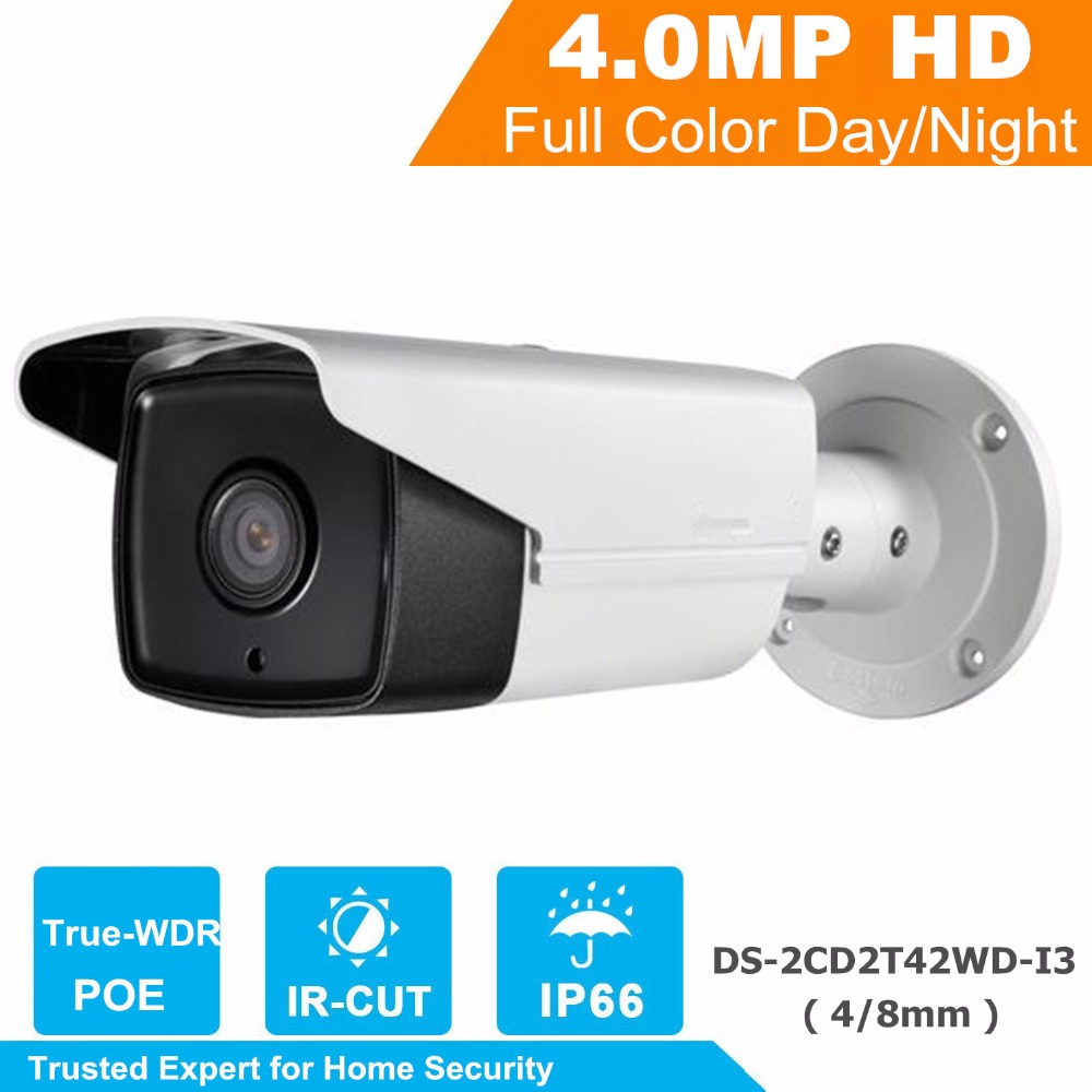 Wholesale New English Version IP Camera Full HD 1080p Multi Language CCTV Camera POE DS-2CD2T42WD-I3 WDR 30M IR IP Camera Onvif hik ds 2cd3345 i 1080p full hd 4mp multi language cctv camera poe ipc onvif ip camera replace ds 2cd2342wd i ds 2cd2345 i