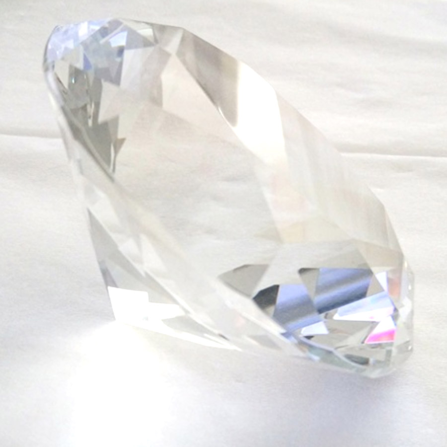 Clear Crystal Glass Diamond Jewelry Display Decorations Paperweight Wedding