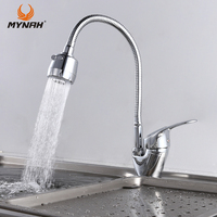 MYNAH Free Shipping Kitchen Faucet Mixer Universal Flexible Cold And Hot Kitchen Tap Single Hole Water
