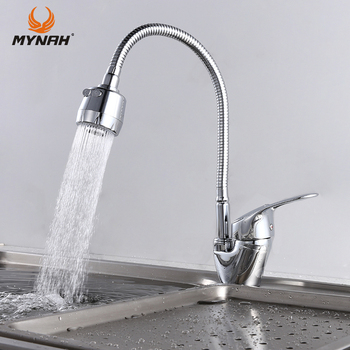 цена на MYNAH Free Shipping Kitchen Faucet Mixer Universal Flexible Cold and Hot Kitchen Tap Single Hole Water Tap torneira cozinha