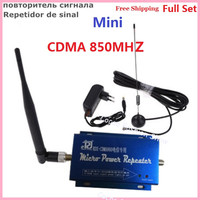For Brazil LCD Family CDMA GSM 850MHz Mini Cell Phone Signal Booster Repeater Amplifier with 10M Cable Antenna Full Set