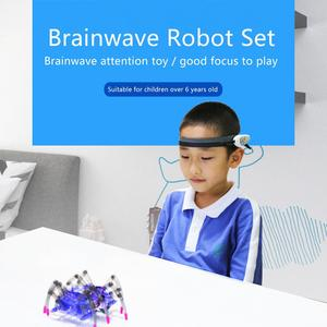 Image 5 - ילדים צעצועים חינוכיים מוח רדיו גל רעיון בקרת DIY עכביש מודיעין רובוט גלאי + צעצוע