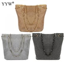 Gold Vintage Fashion Small Women Leather Bucket Bag Handbag Diamonds Chain Shoulder Bag Messenger Crossbody Bags Purses Large miss ying 2017 women messenger bags brand fashion shoulder bags for women handbag leather bag cover crossbody bag small purses