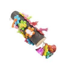 Flower Wooden  Bird Chew Toy  Climbing Toy Hanging Birdcages Decor  Parakeet Pet Bird Bites Climb Chew Toys