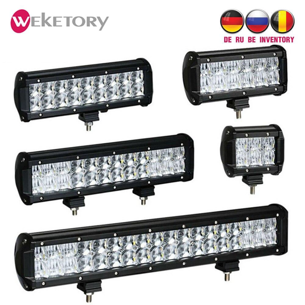 Weketory 4 6,5 4 9,3 12 17 pulgadas 30 W 60 W 90 W 120 W 180 W 5D de trabajo LED barra de luz para Tractor Boat OffRoad 4WD 4x4 camión SUV ATV 12 V 24 v