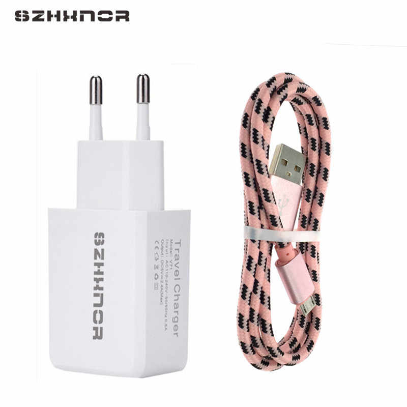 1M micro USB USB Fast Charging + 5V 2A Adapter charger for Xiaomi Redmi 4x note 5 plus note 2 4 huawei P smart oukitel c8 K3