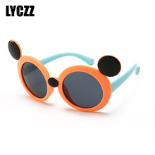 bd7d0f7b7f LYCZZ 3-10 años de polarizadas niño gafas de sol redondas de niños niñas  gafas TR90 de dibujos animados marca diseñador de tonos.