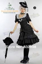 New Charming  Cotton Classic Lolita Dress Gothic Black Dress