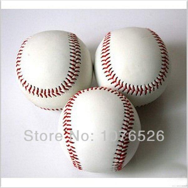 Стандартный белый Trainning Упражнение мягкой Бейсбол Софтбол мяч для Sport Team игры Практика Развлечения Бесплатная доставка