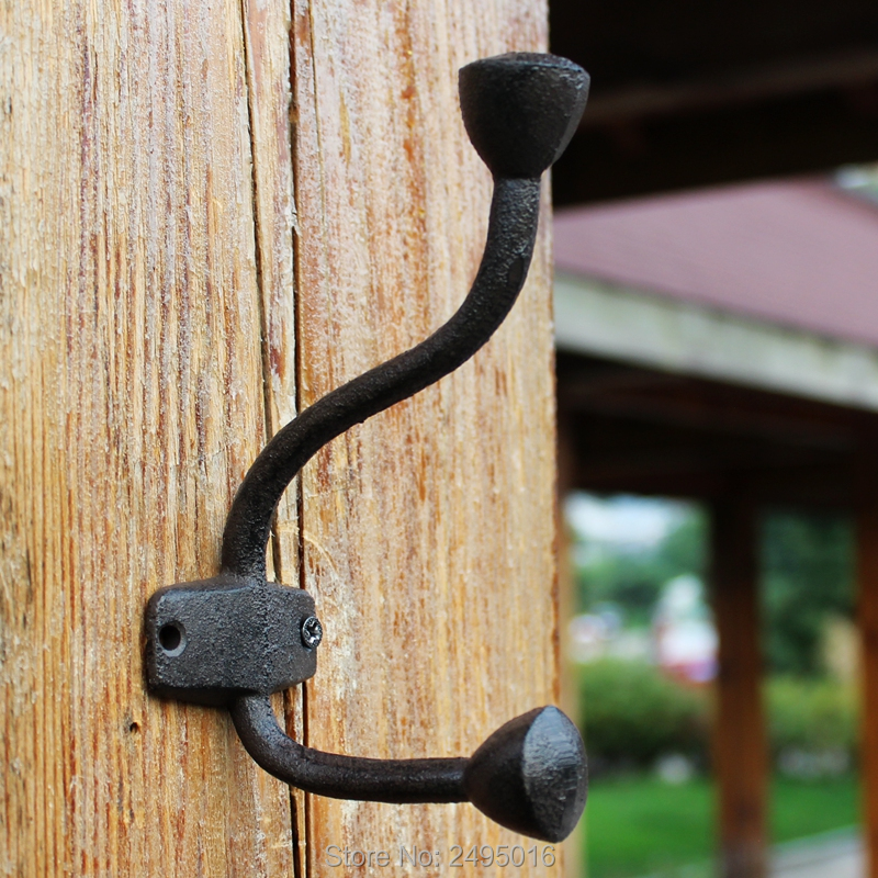 S Shaped Strong Rustic Wrought Iron Wall Mounted Hanging Hooks Coat Hanger
