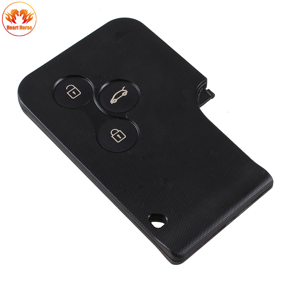 3 buttons key card case for renault clio megane scenic. Black Bedroom Furniture Sets. Home Design Ideas