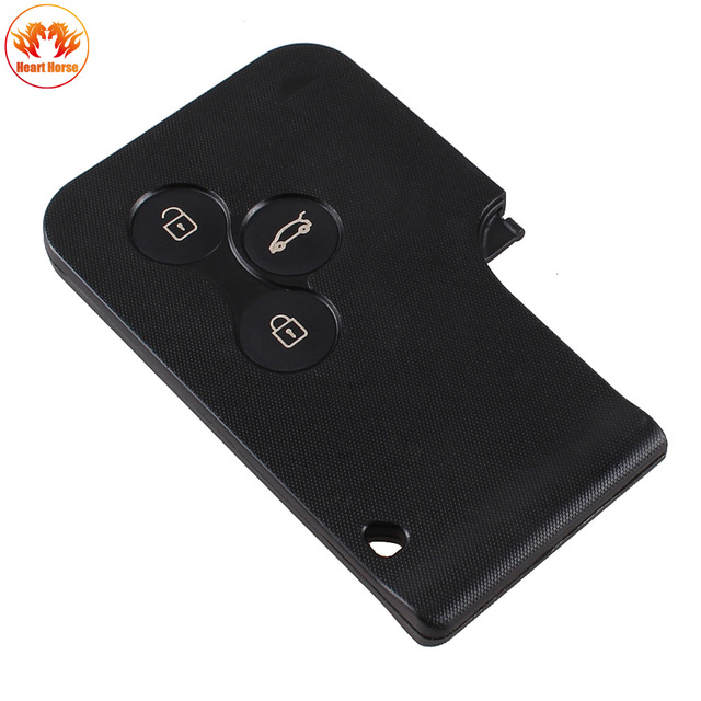 3 Buttons Key Card Case For Renault Clio Megane Scenic
