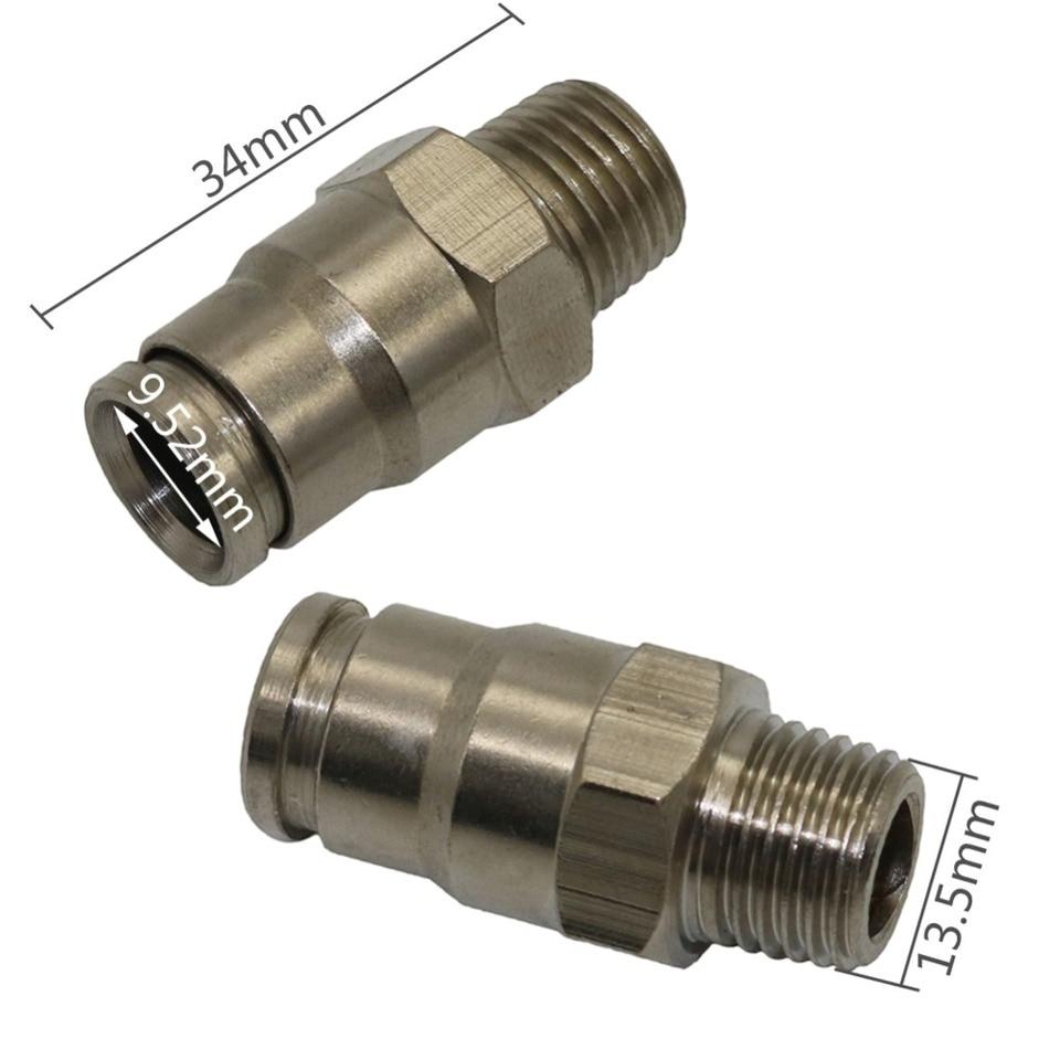 NL 1//8 Montaje De Cobre Adaptador De Acoplamiento De Conectores 1//4 3//8 1//2 3//4 1 BSP Rosca Macho tee Tipo 3 Way Brass Pipe Size : 1
