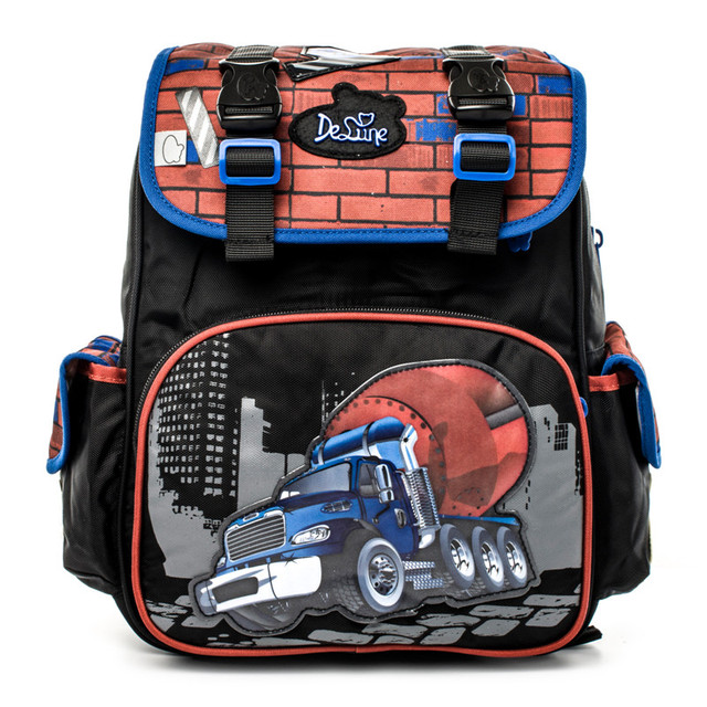 a1d15295685f US $98.0 |2017 Delune Boys School Bag Children Orthopedic School Backpacks  Waterproof Nylon Material Car Prints Backpack for Boy Car Bags-in School ...