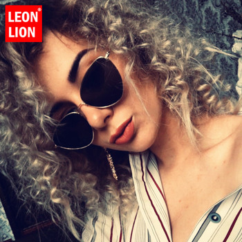 LeonLion 2019 Vintage Metal Cateye Sunglasses Women Retro Classic Glasses Street Beat Shopping Mirror Oculos De Sol Gafas UV400 oval cateye glasses fashion sunglasses classic vintage sunglasses women metal frame sun glasses mirror lens shade gafas de sol