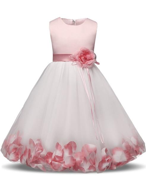 2da66436aea2 Fata Ragazza di Fiore Abito Da Sposa Bambina Tulle Da Sera Prom vestito 6 8  10
