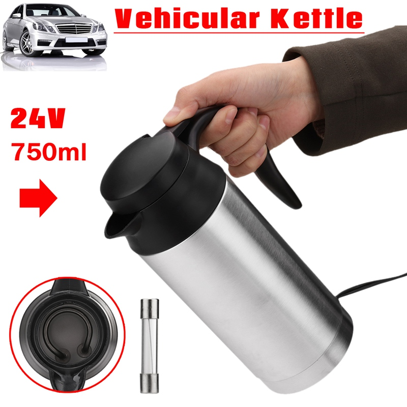 Warmtoo Universal 24V 750ml Stainless Steel In-Car Electric Kettle With Cigarette lighter Vehicular Travel Hot Water For Car колонка delux dls q12bb
