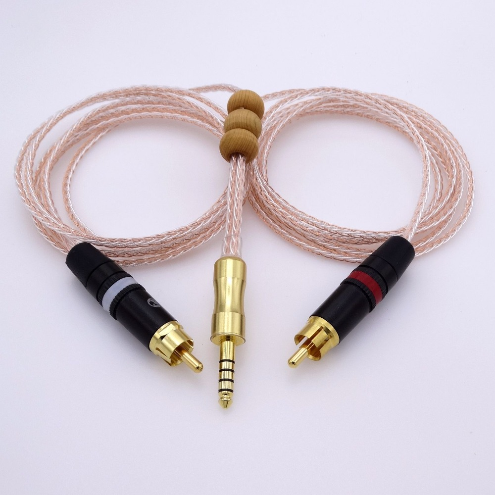 1.5 M 4.4mm à 2 RCA câble adaptateur Audio pour sony NW WM1Z 1A MDR Z1R TA ZH1ES câble de mise à niveau casque PHA 2A-in Écouteurs from Electronique    1