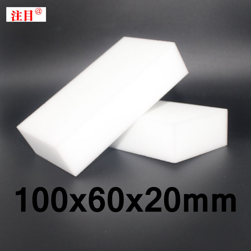 100 pcs/lot Wholesale White Magic Sponge Eraser Melamine Cleaner,multi-functional Cleaning 100x60x20mm Free Shipping