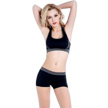 Summer Style 2 pcs Women no rims padded Sports Bra Set Fitness Stretch Top + Shorts Drop Shipping