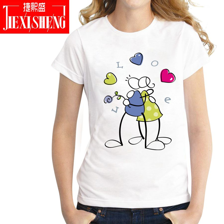 LOVE Graphic Women T Shirts 2018 Summer Fashion Funny T-shirt Casual Short Sleeve Tops Tees