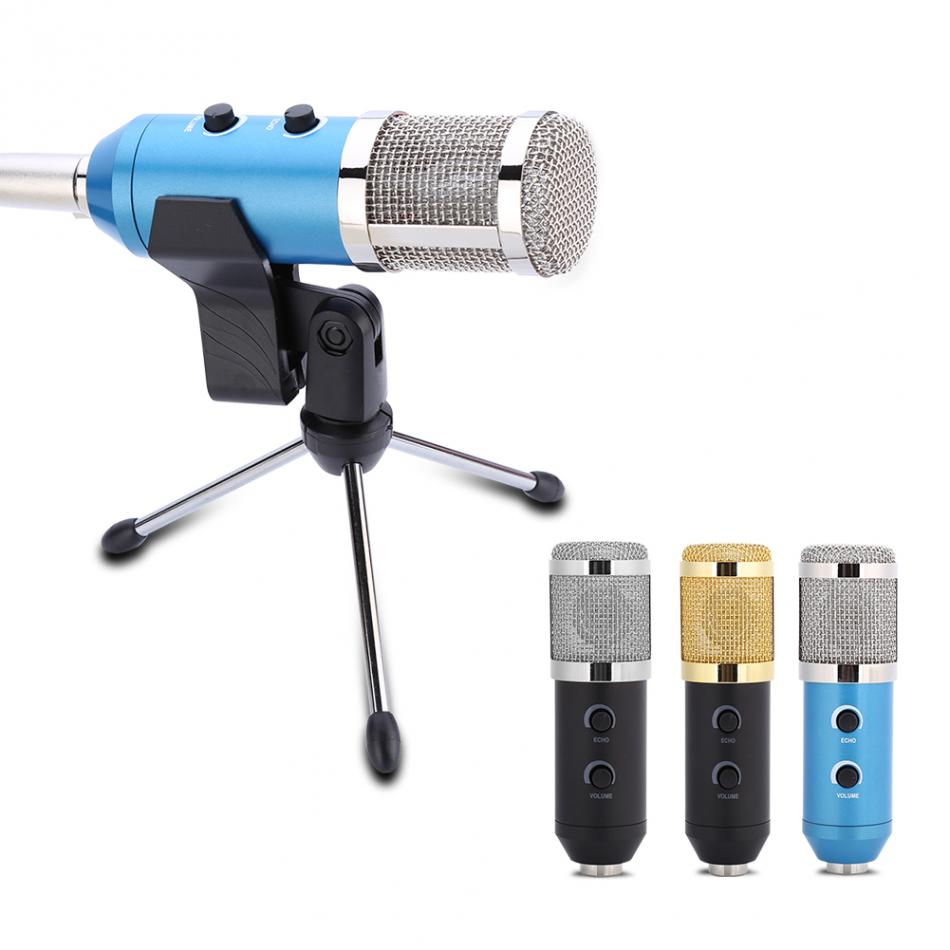 USB Condenser Sound Recording Audio Processing Wired Microphone with Stand for Radio Braodcasting KTV Karaoke Microfone Mikrofon  3 5mm jack audio condenser microphone mic studio sound recording wired microfone with stand for radio braodcasting singing