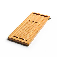 Бамбуковый маленький чайный поднос квадратный сухой круглая подставка для чайной церемонии маленький бамбуковый мини сливной лоток Chahai ку...