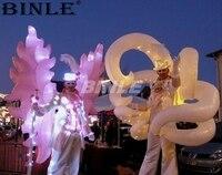 2 шт. замечательный вечерние вечеринок развлечения красочные Надувное крыло костюм со светодиодными огнями танцев