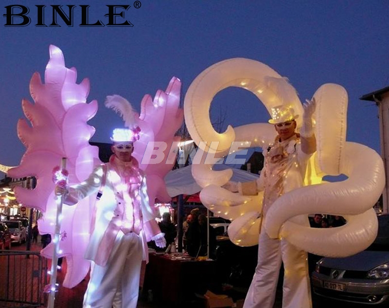 2pcs wonderful night party entertainment colorful inflatable wing costume with led lights for dance2pcs wonderful night party entertainment colorful inflatable wing costume with led lights for dance