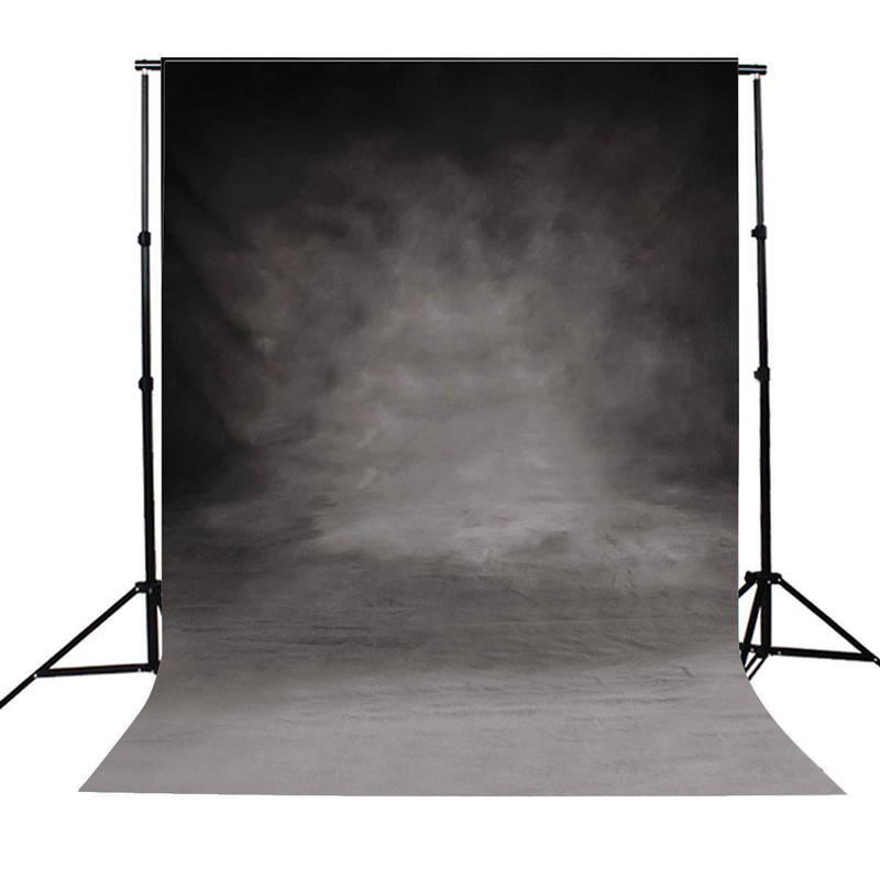 Mayitr 1pc Vinyl 3x5FT Backdrop Retro Cloth Black Grey Wall Photography Background For Studio Photo Props vinyl solid color black background for photography portrait photo backdrop booth studio props