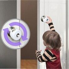 Baby Safety Lock Cabinet Locks & Straps Door Lever Home Children Protection Doors Handle