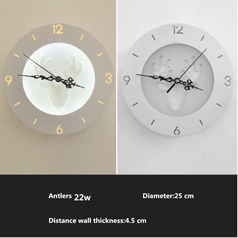 22W Modern Creative Clock Design LED Wall Lamp Nordic Simple Decorative Wall Lights For Living Room Bedroom Kids Room Aisle недорого