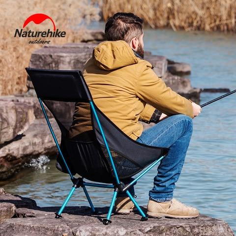 portatil dobravel cadeira back resto acampamento leve