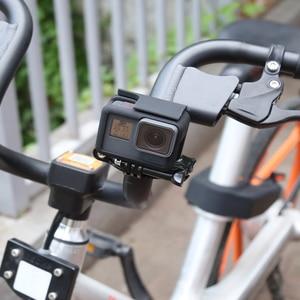 Image 5 - SHOOT rower motocykl kierownica uchwyt zacisku statyw do GoPro 9 8 7 5 czarny Xiaomi Yi 4K Sjcam Eken Go Pro akcesoria