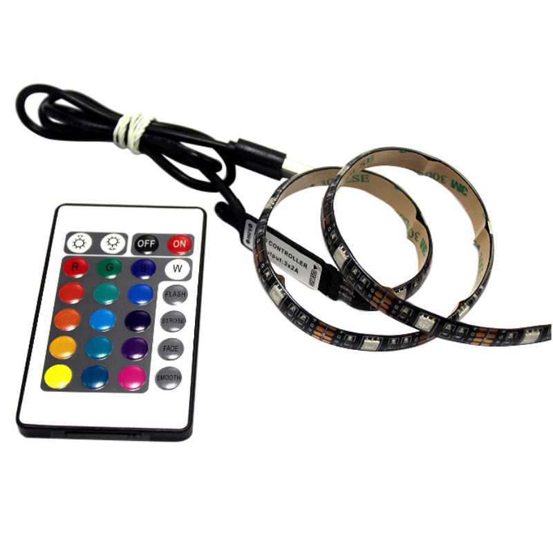 5V 1M 2M USB Cable Power LED strip light lamp SMD 5050 Christmas desk Decor lamp tape For TV Background Lighting hot sale