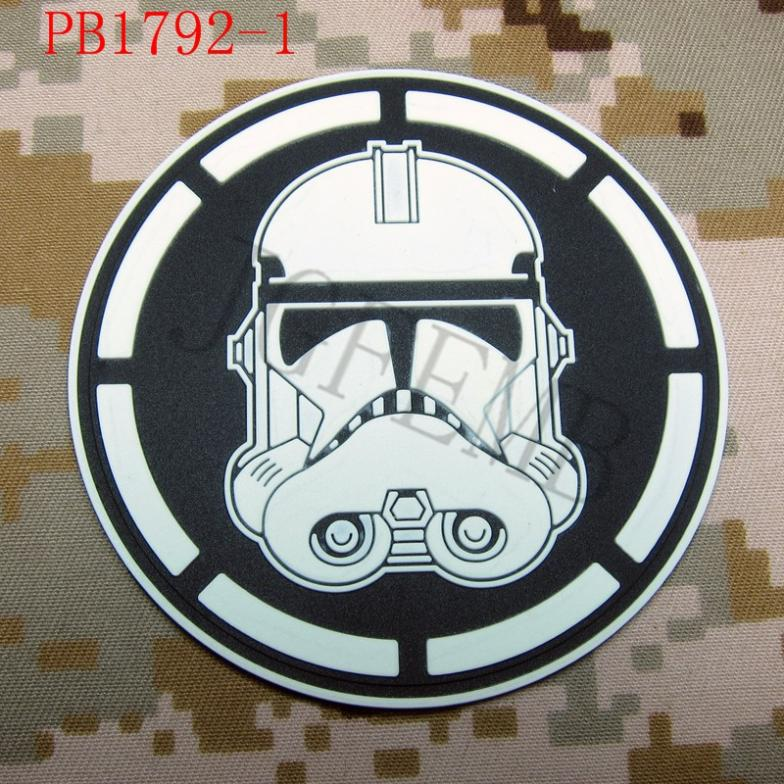 Legion imperial storm trooper logo tactical military morale 3d pvc patch black red luminous green grey yellow in patches from home garden on