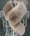 Winter faux fur collar rex rabbit fur collar warm soft scarf unisex fur scarf with tails