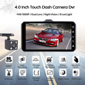 Image 2 - E ACE Car DVR 4 Inch Touch Auto Camera Dual Lens Dashcam FHD 1080P Registrator With Rear View Camera Dash Cam Video Recorder