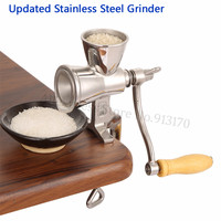 Upgraded Stainless Steel Grinding Machine Coffee Bean Grinder Miller Walnut Peanut Pulverizer for Chili Soybean with Hand Crank