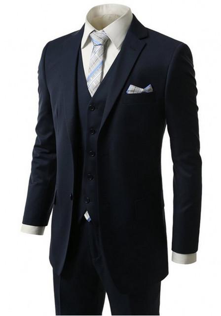 2017 Más Nuevos Padrinos de Boda Trajes de La Venta Caliente Para Hombre de Esmoquin Trajes de Boda Para Hombres/Tuxedos Padrinos de boda Para Hombre de Traje de Novio (Jacket + Pants + Vest)